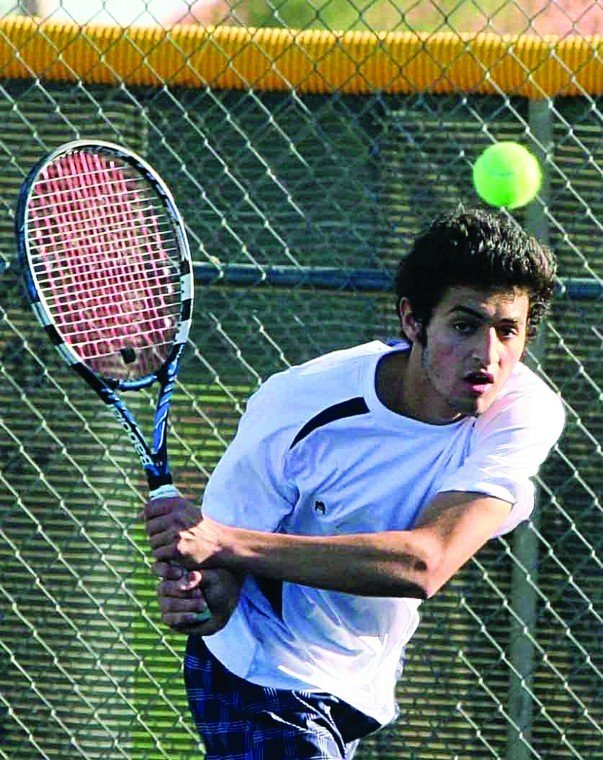 Desert Vista's Ahmad Saleem tennis