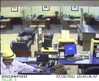 Wheelchair bank robbery