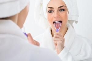 Research data indicates that half the bacteria in the mouth lives on and in the deep crevices of the tongue.