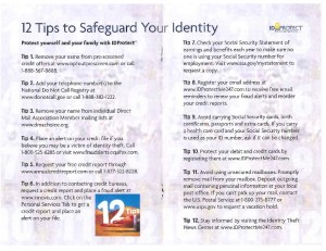 12 tips to safeguard identity