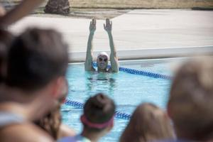 Olympians visit DV Swim