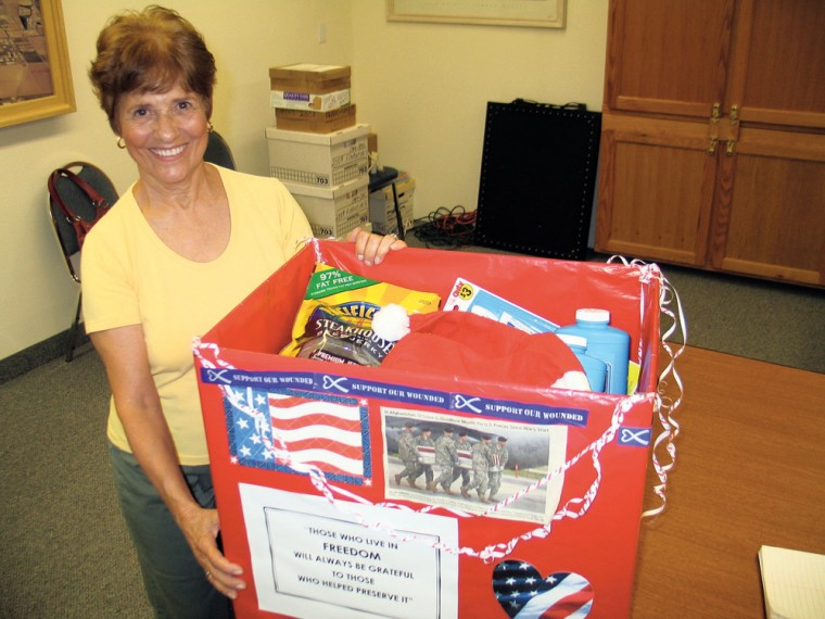 ARC care packages for troops