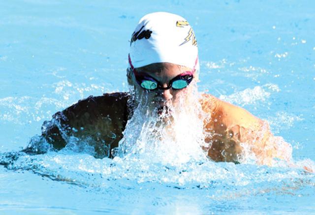 Olsen leads runner-up DV girls to swim success