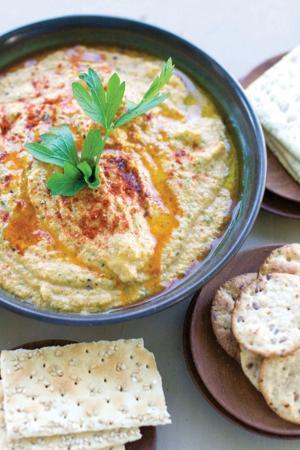 Grilled zucchini hummus