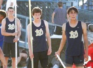 Desert Vista pole vaulters