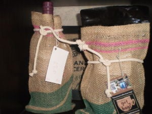 Bergie's coffee and wine bags