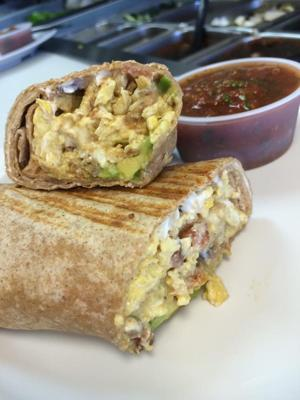 <p>Z-Cafe's menu is bursting with burrito goodness. Try the Chipotle Burrito!</p>