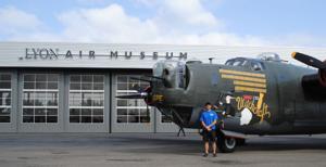 World War II B-24J bomber plane