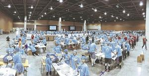 <p>Made by Feed My Starving Children, the packs filled the Phoenix Convention Center last year.</p>
