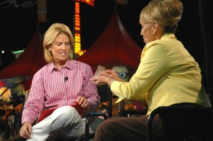 Greta Van Susteren and Jan Brewer