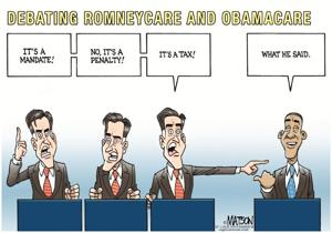 Debating Romneycare and Obamacare