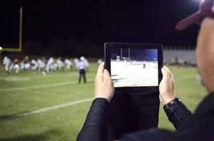 <p>Mountain Pointe is taking advantage of a new rule that allows teams to take a picture of each play in order to make adjustments in alignments.</p>