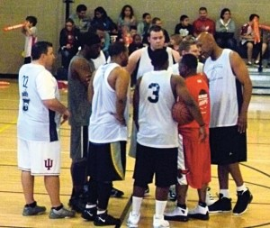 Huddle with Team Loco before the big game against the Cardinals