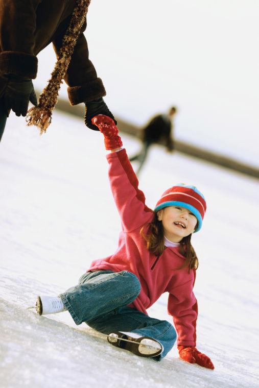 Ice skate kid