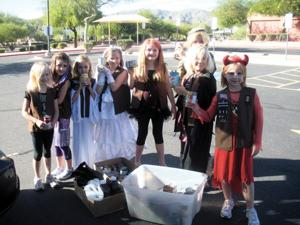 Local Brownie Troop collects food