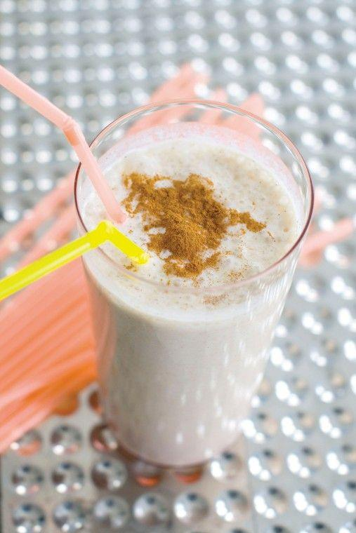 Caramelized brown sugar banana milkshake