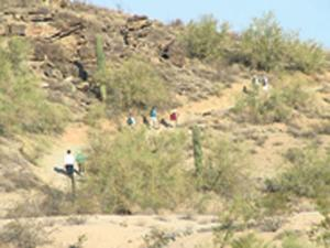 Fall hiking at South Mountain