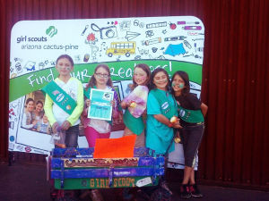 Local Ahwatukee Girl Scout Troop 2263 won Best of Show