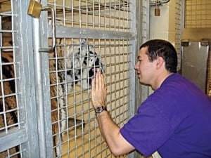 Nicholas Cross with Mike the Tiger