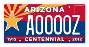 Centennial license plate