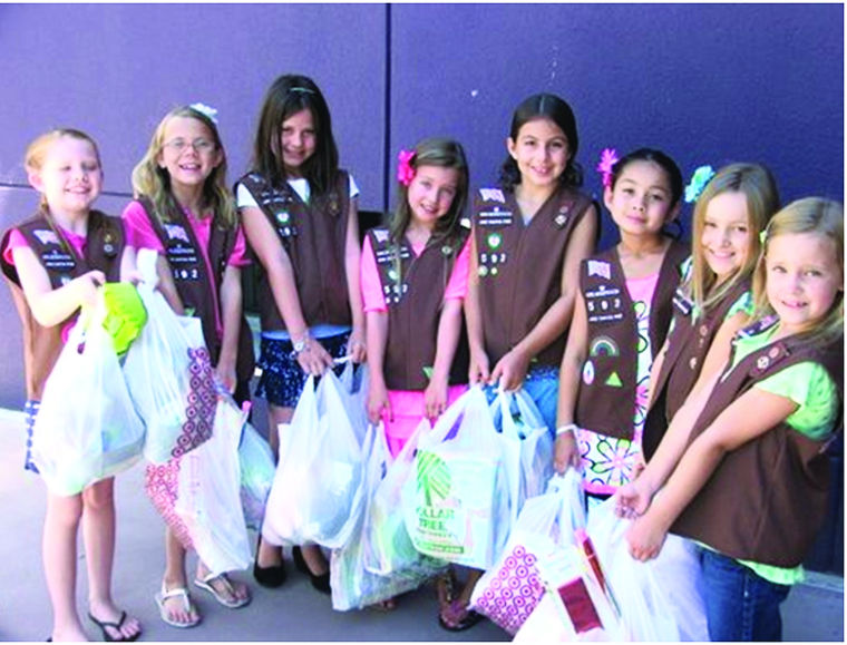 Girl scouts provide toys for Phoenix Children's Hospital