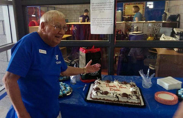 YMCA greeter Dick Bernacchi