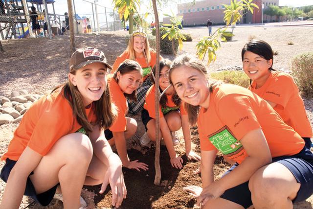 St. John Bosco Interparish School receives 73 new trees