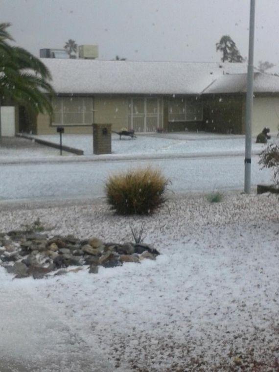 Hail in Ahwatukee