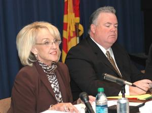 Jan Brewer and Don Cardon