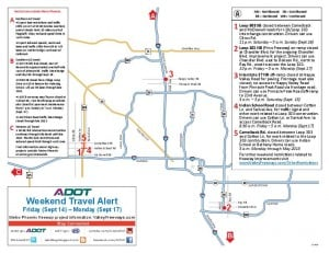 Weekend Freeway Map Sept. 13