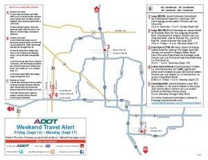 Weekend Freeway Map Sept. 13