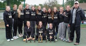 <p>The Grove City Lady Eagles, under the direction of Coach Jared Henshaw, won the championship at the recent Buhl Farm Tennis Invitational.</p>