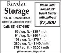 Raydar Storage