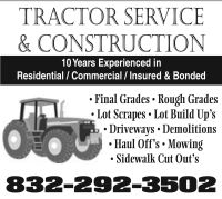 TRACTOR SERVICE & CONSTRUCTION