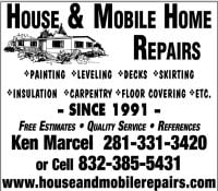 House & Mobile Home Repairs