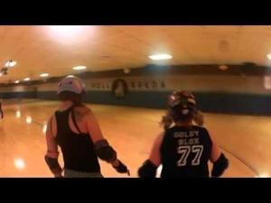 Video: Roller derby practice from a member's point of view