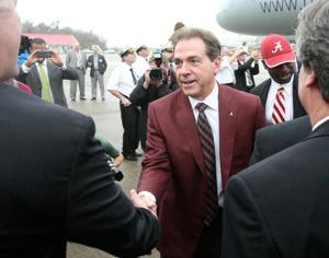 Alabama arrives for the Sugar Bowl