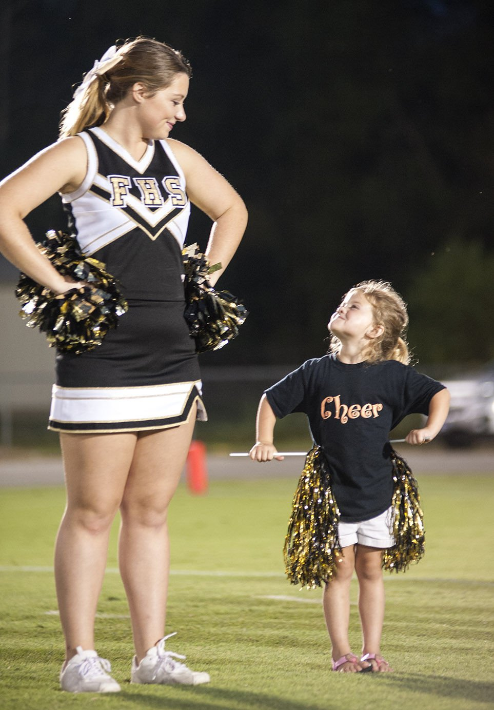 FRIDAY NIGHT SCENE OF THE WEEK: Fayetteville youth cheer squads enjoy spirit walk