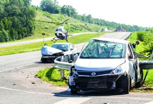 Driver airlifted after two-vehicle collision