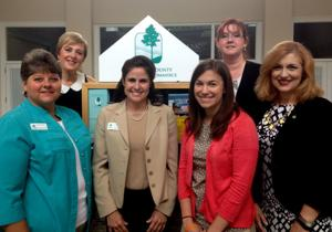 Chamber manager Linda Hearn and staff