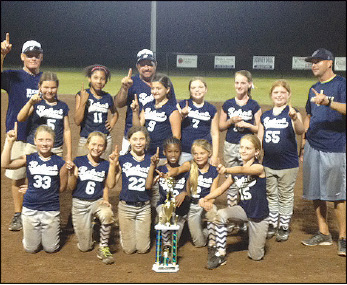 Jacksonville Rehab Partners 10U girls' softball team