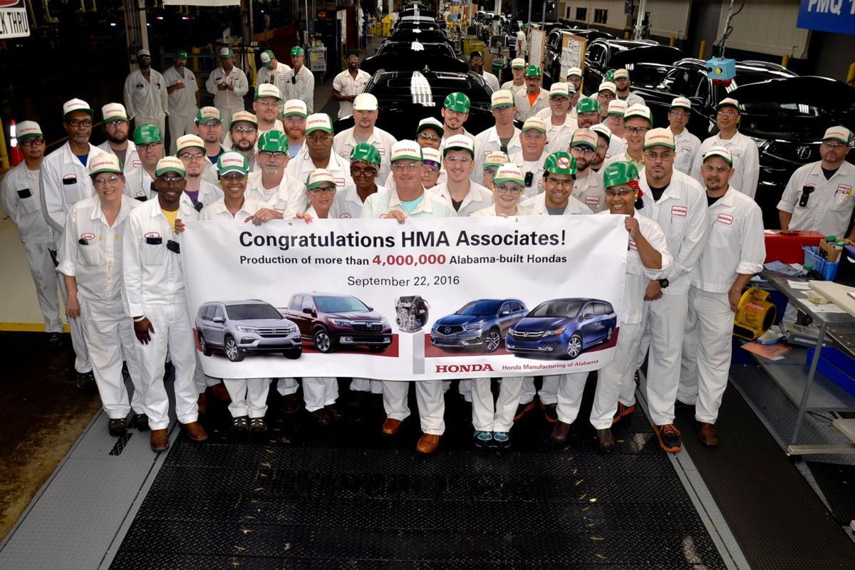 Honda Manufacturing of Alabama celebrates milestone