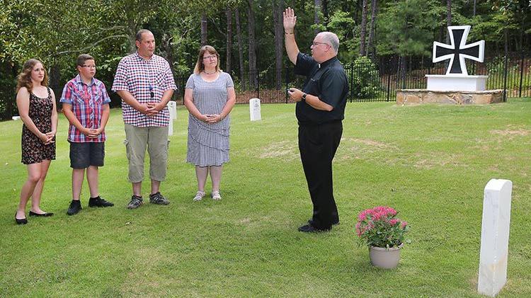 German POW's Family Visits Gravesite at McClellan