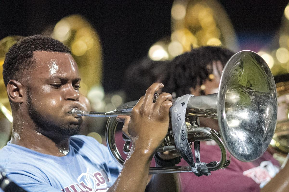 Talladega College Marching Tornado Band entertains at Talladega-TC Central showdown
