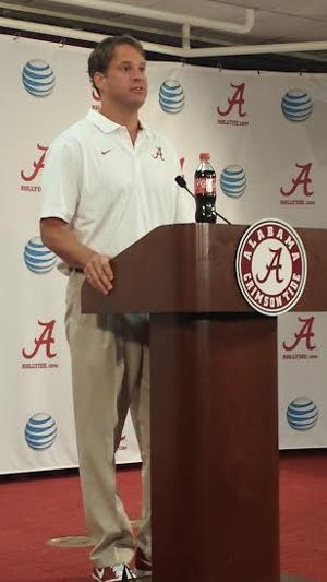 Lane Kiffin talks to Alabama media