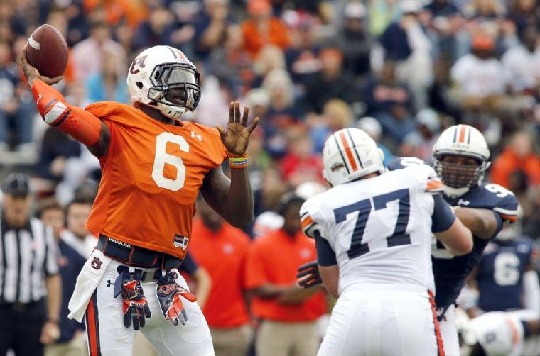 <p>Auburn quarterback Jeremy Johnson (6). (Photo by Trent Penny/The Anniston Star)</p>