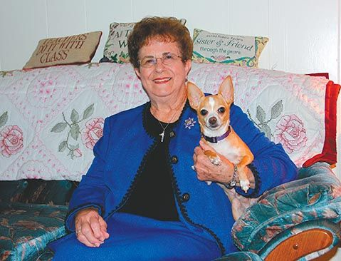 Thrya Smith at home with Sparky