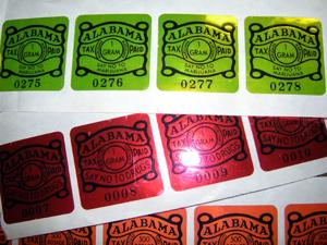 Alabama's illegal drug tax stamp