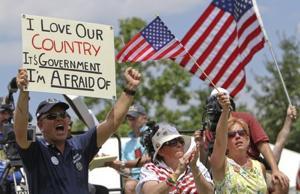 Tea party rally in Washington