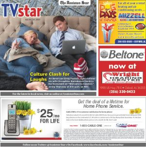 The Anniston Star's television listing section from the July 18, 2014 edition.